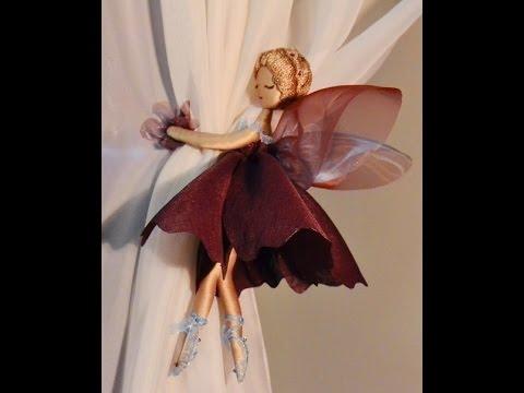Подхват для штор на магнитах Бордовый цветок - YouTube