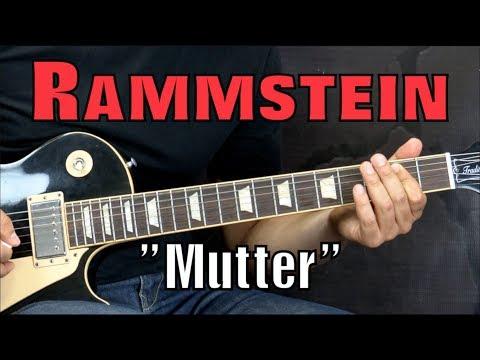 Rammstein - Mutter - Metal Guitar Lesson (w/Tabs)