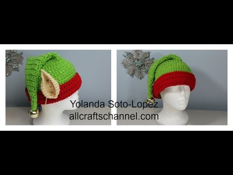 How To Crochet Elf Hat Gorro De Elfo Subtitulos En Espanol Youtube