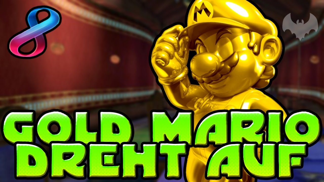 Gold Mario Dreht Auf Mario Kart 8 Deluxe Nintendo Switch