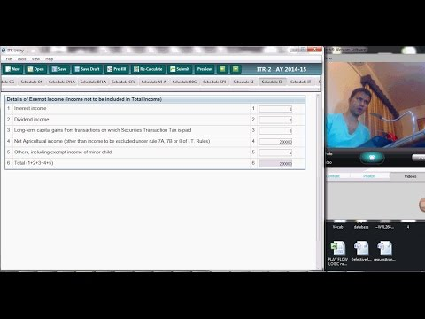 1263 (Agricultural income) How to file tax return for agricultural income?