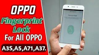 Fingerprint Lock Oppo A37
