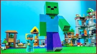 LEGO Minecraft BIG ZOMBIE Build CHALLENGE Animation