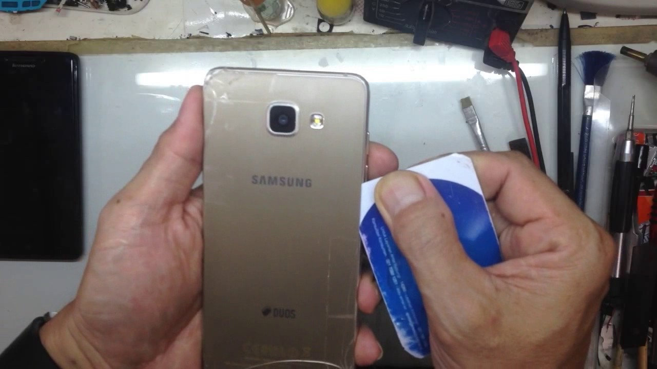 premium selection 321ea 01ef0 How to open back cover Samsung A510F