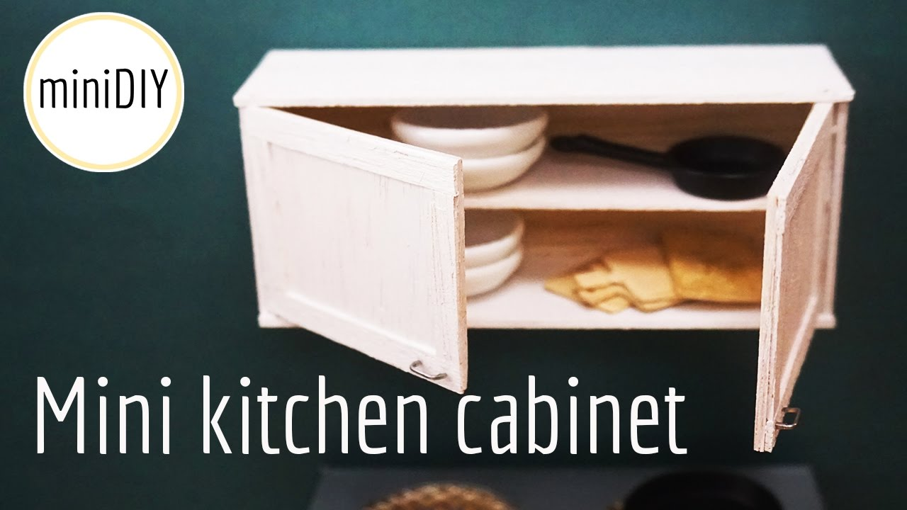 Miniature Kitchen Cabinet Diy Dollhouse Minidiy
