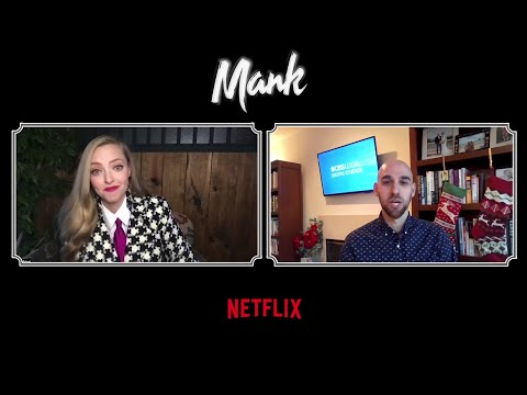 Amanda Seyfried On Netflix's 'Mank': 'It Just Couldn't Get Any More Beautiful'
