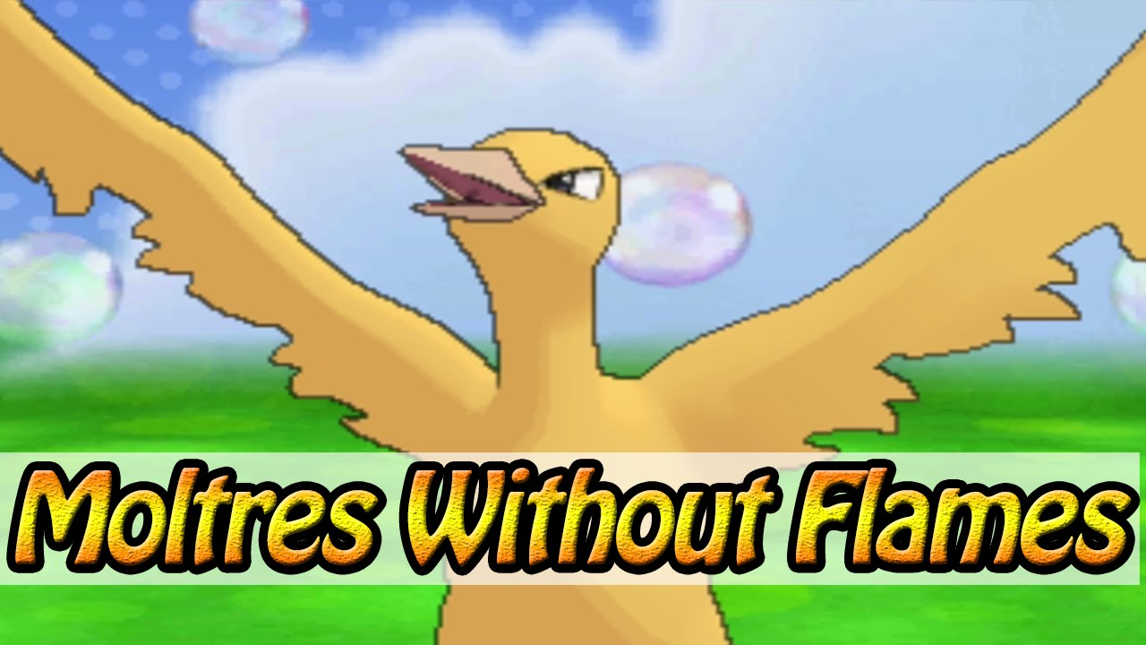 Moltres Without Flames Pokemon Omega Ruby And Alpha Sapphire Hack