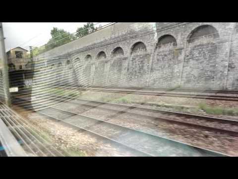 TGV DUPLEX ARRIVE EN GARE PARIS GARE DE LYON