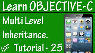 Free Objective C Programming Tutorial for Beginners 25 - Multi Level Inheritance