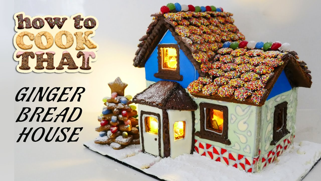 GINGERBREAD HOUSE RECIPE How To Cook That Ann Reardon - YouTube on gingerbread roof designs, art designs, valentine's day designs, gingerbread architectural designs, mother's day designs, cupcakes designs, bread designs, gift designs, little houses designs, cobblestone driveway designs, pumpkin designs, gingerbread porch designs, gumball machine designs, gingerbread castle designs, vanilla house designs, upscale club designs, christmas designs, dessert designs, elf designs, chicken designs,