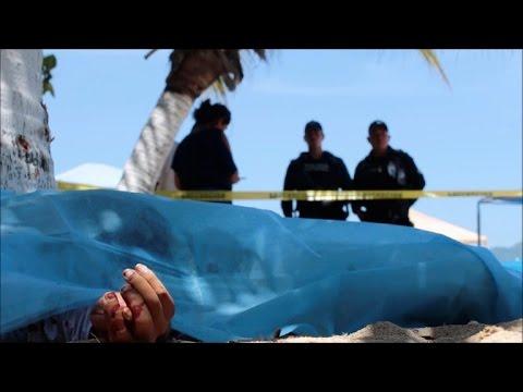 Los cadáveres saturan la morgue de Acapulco