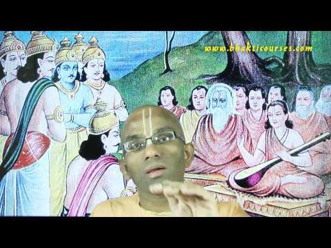 Mahabharata Characters 24 - Yudhisthira 02 - The world's king glorifies the supreme king