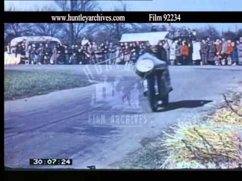 Motorcycle Racing at other Locations, 1950's - Film 92234