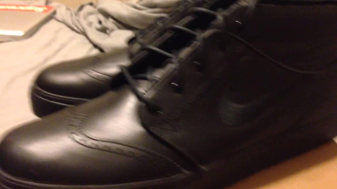 buy popular 9817a b5398 Nike sb zoom stefan janoski black wingtip review