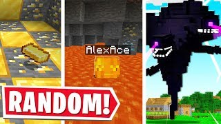 Minecraft EXCEPT EVERY 30 SECONDS RANDOM THINGS HAPPEN..