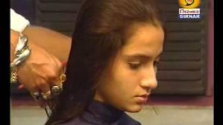 indian girl long to short bob