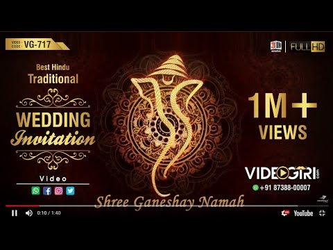 best-traditional-hindu-wedding-invitation-video-|-vg-717