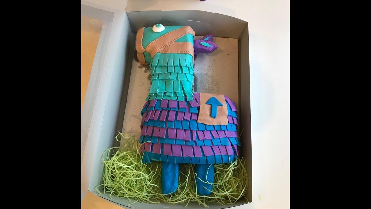 Fortnite Loot Llama Cake I Made For My Niece Abby S Birthday Youtube