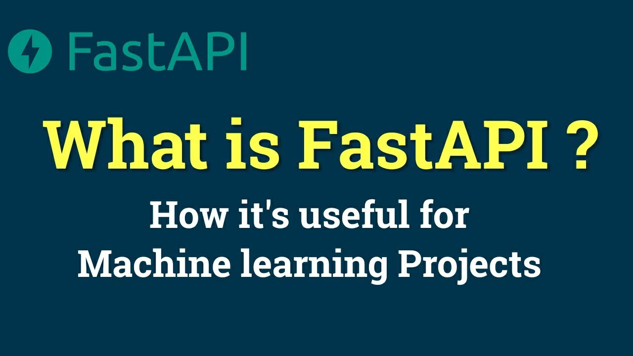 Create API for Machine learning model with FastAPI   Machine Learning