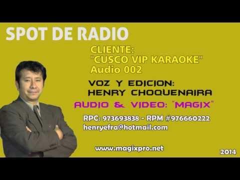 Spot para radio y tv en cusco, Rpc973693838