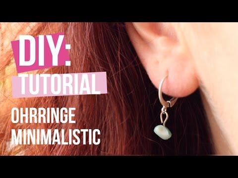 Schmuck machen: Trendy Minimalistik Ohrringe ♡ DIY