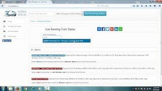 Check Train Live Running Status in Hindi
