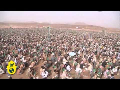 Huge Shiite rebel rally in Yemen's Saada: Abdul-Malik Al-Houthi speaks on prophet's birthday
