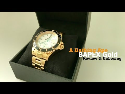 A Bathing Ape Gold Bapex Watch 2018 4k Youtube