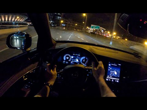 Volvo XC90 Night | 4K POV Test Drive #420 Joe Black