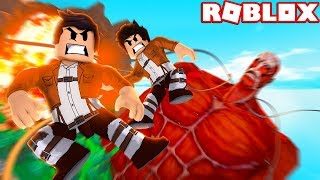 WE FIGHT GIANT PEOPLE IN ROBLOX!!!