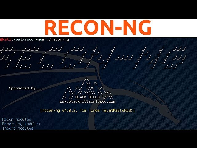 Recon-ng - Adding API Keys, Database Commands and Advanced Scanning