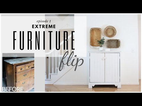 Cabinet Makeover ~ Chest of Drawers Repurpose ~ Furniture Flip ~ DIY Vintage Cabinet