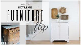 Cabinet Makeover ~ Chest of Drawers Repurpose ~ Furniture Flip ~ DIY Vintage Cabinet