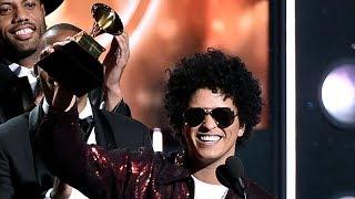 Bruno Mars SWEEPS Huge Categories At 2018 Grammys thumbnail