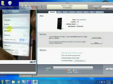 How To Update IPod Touch/iPhone To IOS 3.0 Firmware For Free