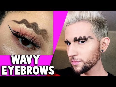 TRYING WAVY SQUIGGLY EYEBROWS (Instagram Trend)