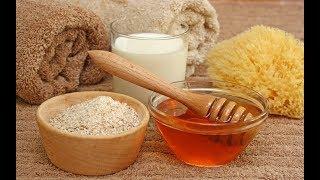 Mascarilla natural de arroz, miel y leche.