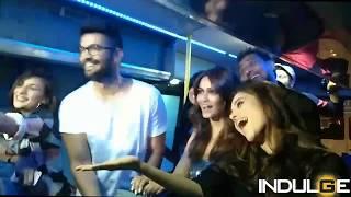Kriti Kharbanda, Nushrath Barucha and Miss Malini's fun riot on the Myntra Sneaker Pub Crawl bus