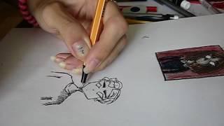 - йен рисую одного из своих персонажей