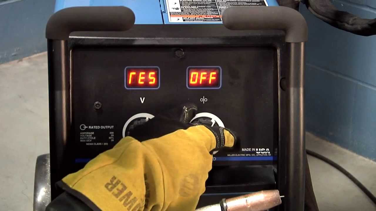 Millermatic reg 252 MIG welder system reset YouTube