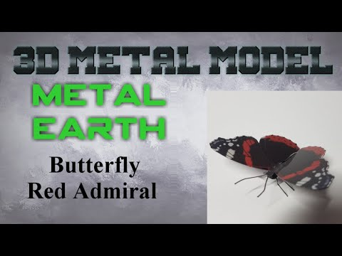 Metal Earth - Red Admiral Butterfly