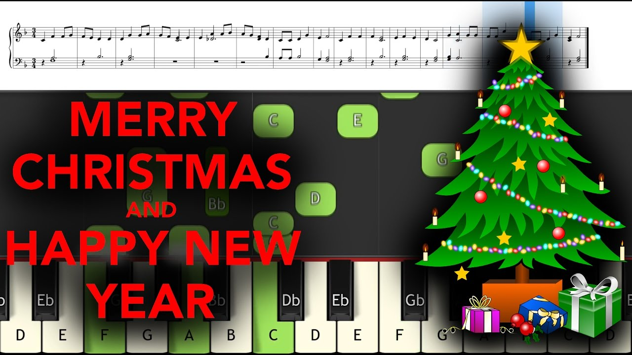 We Wish You A Merry Christmas And A Happy New Year (FREE SHEET AND ...