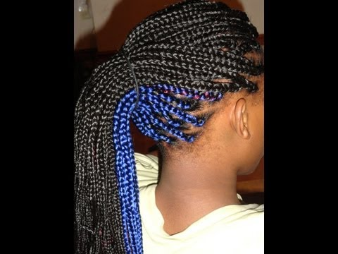 Box Braids With Color In The Back