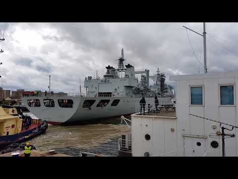 02. Chinese Navy - Type 903A replenishment ship - King George V Dock, London, 07/10/17