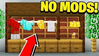 How to Make a WORKING ARMOR RACK in Minecraft! (NO MODS!)