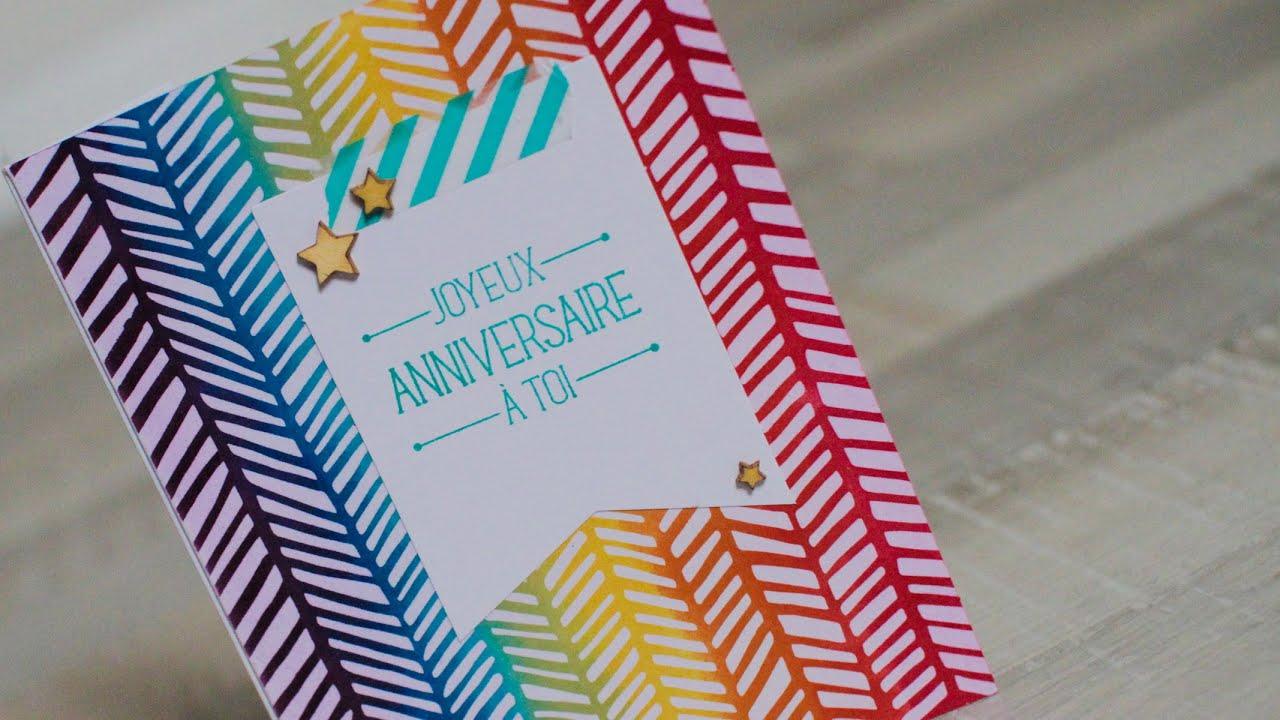 Tuto carte anniversaire scrap : Kit Stampin'Up! - YouTube