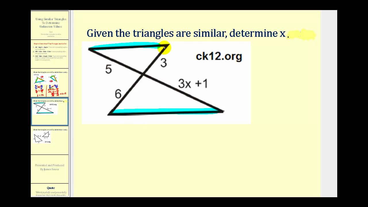 small resolution of Similar Triangles (solutions