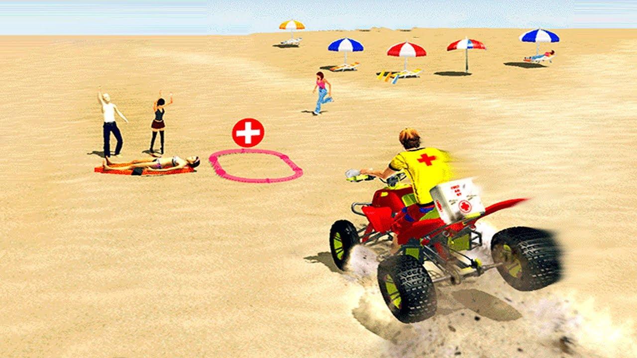 Bike Racing Games - Beach Life ATV Rescue Bike #2
