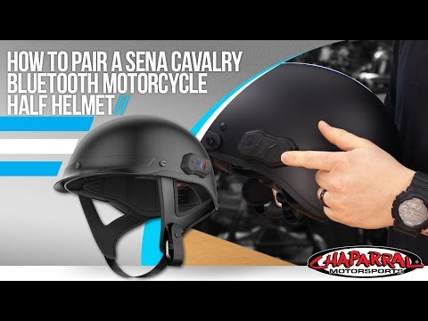 How to Pair Sena Cavalry Bluetooth Motorcycle Helmet to your phone at Chapmoto.com - 동영상