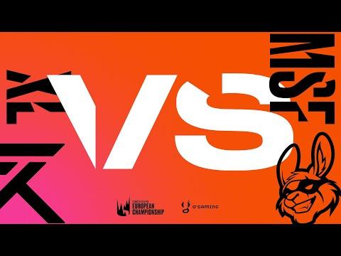 LEC Summer 2020 - MSF vs XL - W3D2